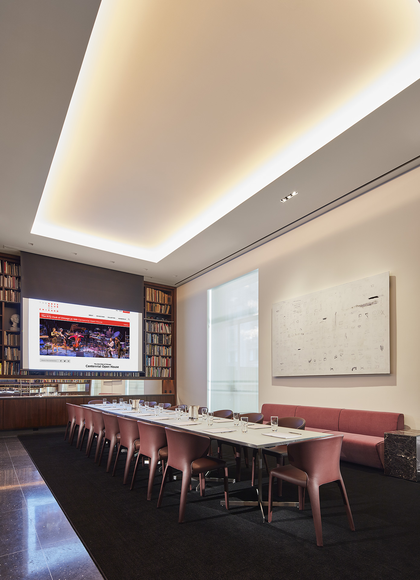 Conference Room Lighting Design: Arts Club Of Chicago Drawing Room