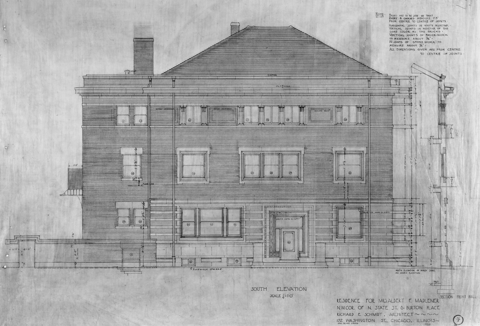 12 South Elevation Dwg Historic